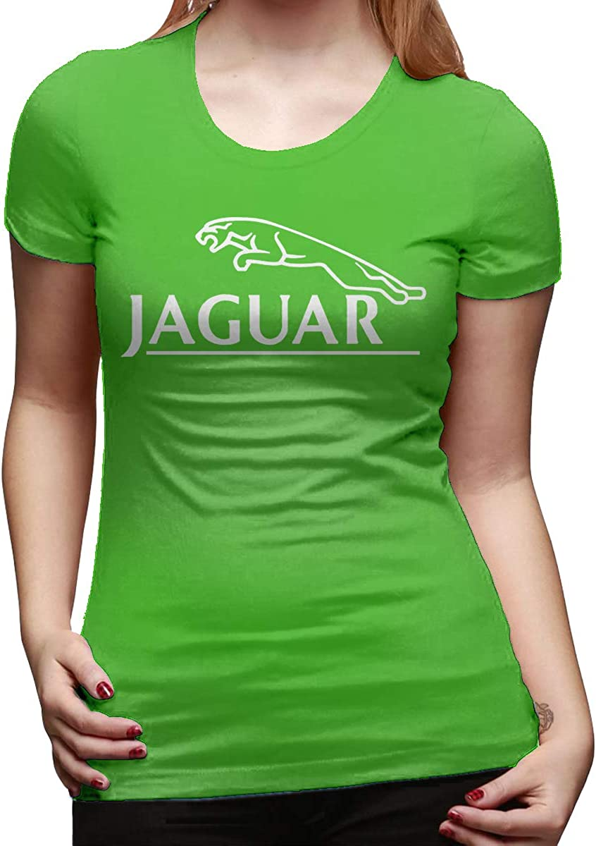 O-Neck Funny T Shirts for Lady Black Kaivi Designed T Shirt Jaguar Logo 4