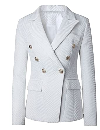 e4ae2dee8e8ed M&S&W Women's Business Button Front Classic Ponte Knit Blazer Jackets at  Amazon Women's Clothing store: