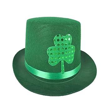 Amosfun Sombrero del día de San Patricio Irish Festival Decor Hat Gorra  Simple para la Fiesta del Carnaval Festival Decoraciones del día de San  Patricio  ... 6cf622806c0