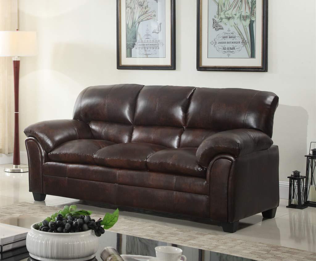 Amazon.com: GTU Furniture Mahogany Brown Sofa: Kitchen & Dining