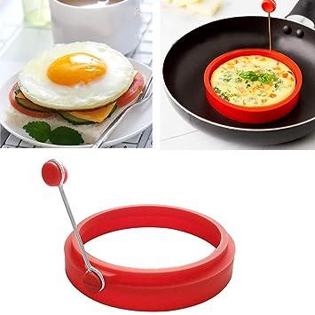 ShopSquare64 Molde Redondo de Silicona Antiadherente para Tortillas Anillo de Huevos Fritos para Cocina: Amazon.es: Hogar
