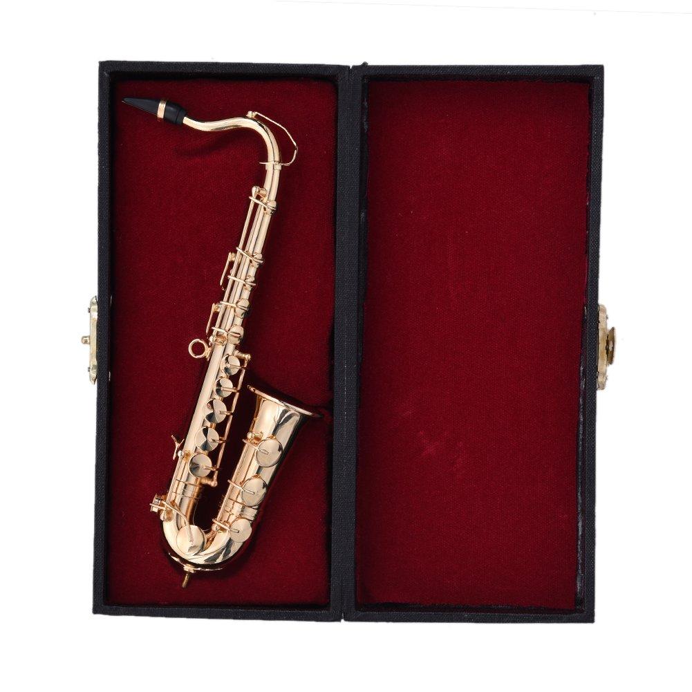 tilesii Mini guitarra eléctrica/guitarra/Violín/saxofón clásico con apoyo en miniatura de madera instrumentos musicales colección decorativa adornos: ...