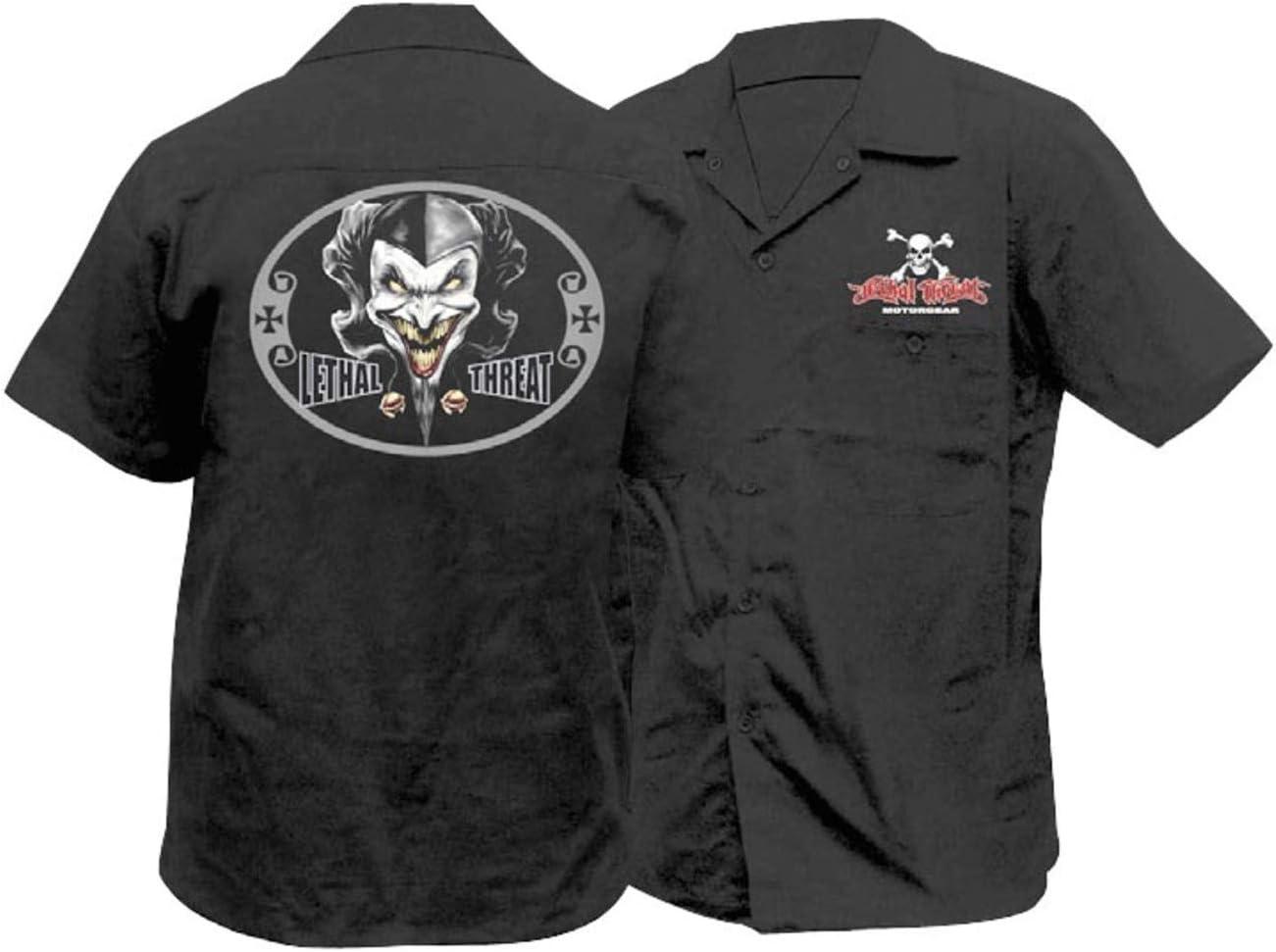 Lethal Threat Jester Work Shirt Black XL