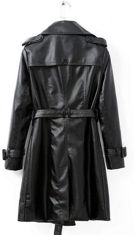 Trench Coat Femme Manteau Printemps Automne Manches Longues Double Boutonnage Long Manteau, 1,S 1