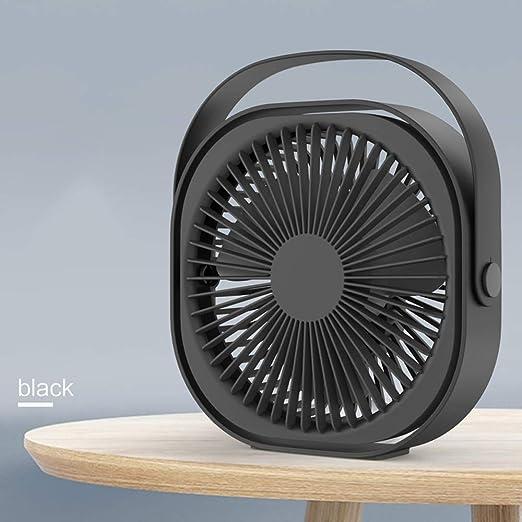 MXT-RM Pequeño Ventilador USB, Escritorio Recargable, rotación de 360 °, Ventilador portátil, silencioso y portátil Que Ahorra energía,Black: Amazon.es: Hogar