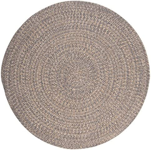 Tremont Round Area Rug, 8 by 8-Feet, Gray
