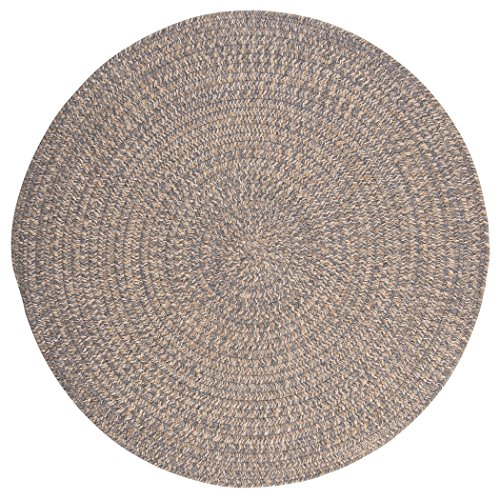 Tremont Round Area Rug, 6 by 6-Feet, Gray