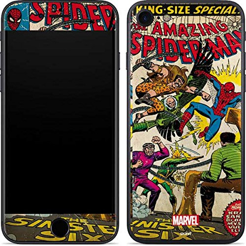 Marvel Comics iPhone 7 Skin - Spider-Man vs Sinister Six Vinyl Decal Skin For Your iPhone 7