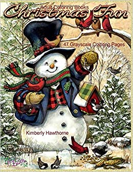 amazoncom adult coloring books christmas fun 47 grayscale coloring pages beautiful grayscale images of winter christmas holiday scenes santa reindeer