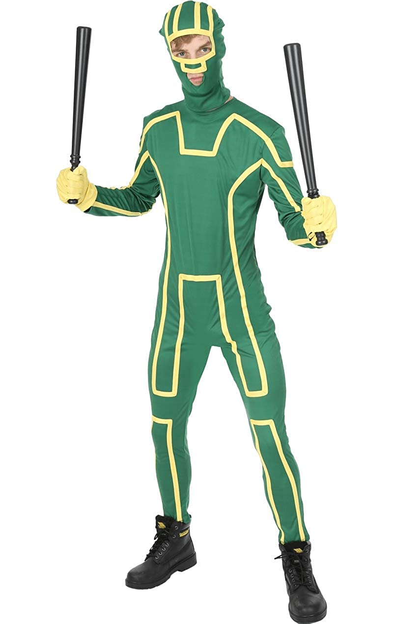 ORION COSTUMES Disfraz de Superhéroe de Kick Ass Ninja Verde para Hombres