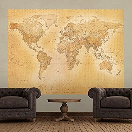 1 wall old world map atlas wallpaper mural 158m x 232m amazon 1 wall old world map atlas wallpaper mural 158m x 232m gumiabroncs Gallery
