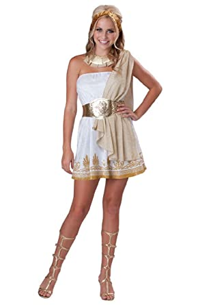 glitzy greek goddess teen halloween costume