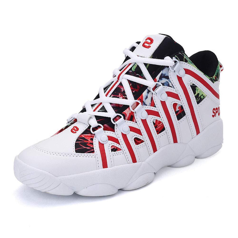 YAN Unisex Basketball Schuhe Leistung Dämpfung Basketball Stiefel Trainer Turnschuhe PU + Gummisohle Paar Stiefel (Farbe : C, Größe : 38)