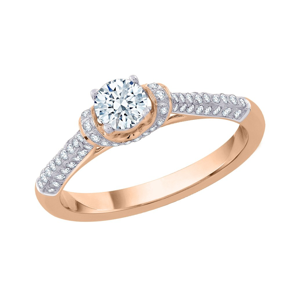 e58c66bc9e4 KATARINA Diamond Solitaire Engagement Ring in 14K Gold (5 8 cttw ...