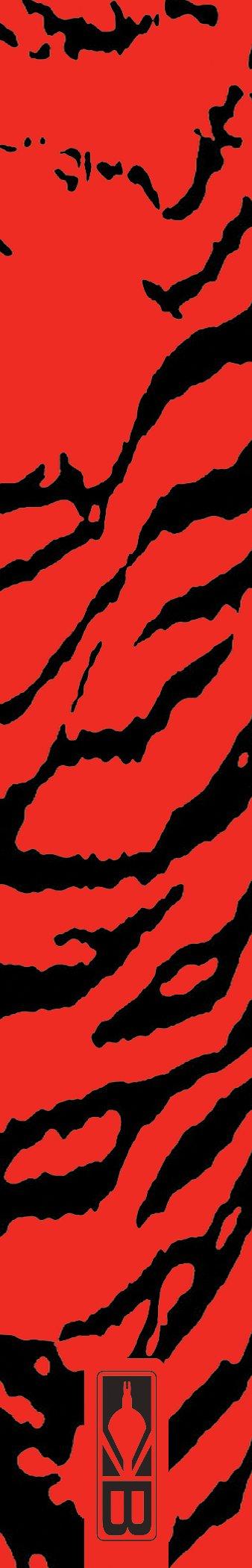 Bohning 7'' Printed Wrap 7'' Red Tiger Standard Arrow Wrap, 12pk by Bohning