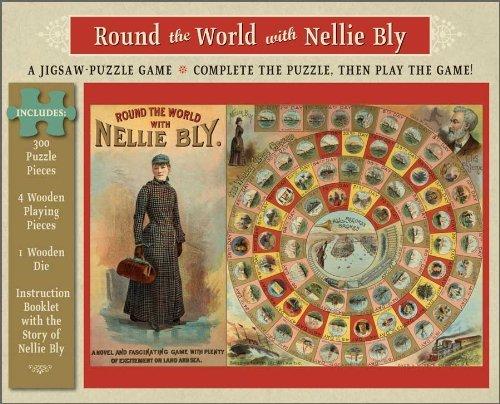 Round the World with Nellie Bly: A 300 Piece Jigsaw Puzzle Game (Around The World With Nellie Bly Game)