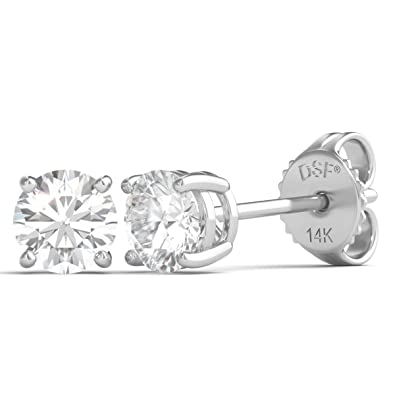 crystal stud over ct daily gold diamond flower earrings white wear pair women