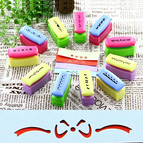 Since Puncher Scrapbooking Punches Shaped Hole Punch Paper Cutter Scrapbook Embossing Machine Decorative Craft Punch Perforator Set of 3 ,Random Color ()