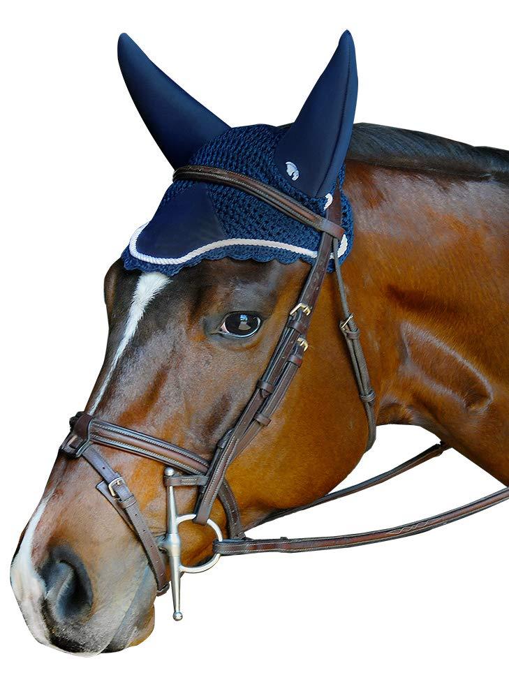 Plughz Equine Sound Off Ear Net Soundless Bonnet Navy