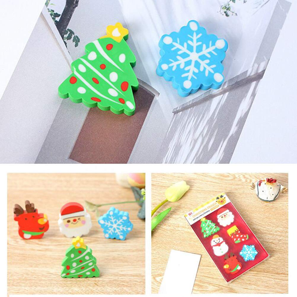 STOBOK 36pcs Christmas erasers for Holiday Kids Students Gift Basic School Supplies (Random Pattern) by STOBOK (Image #3)