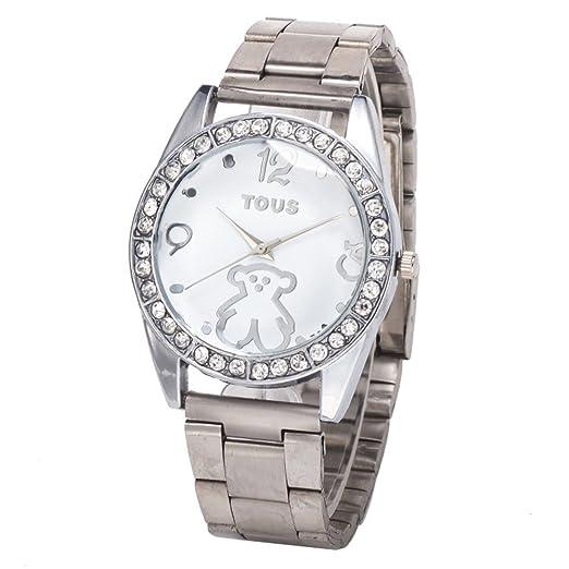 Best alta calidad de los hombres y de las mujeres amantes de la moda Reloj caliente Tous aleación de plata Lov: Amazon.es: Relojes