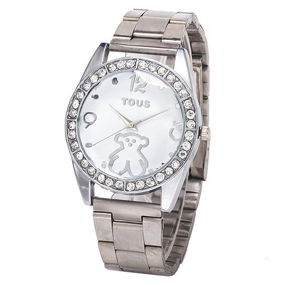 Venta de aleación de reloj de la manera Tous barato de las mujeres de plata: Amazon.es: Relojes