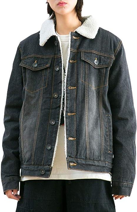 YONGM Girls Winter Warm Fleece Collar Sherpa Lined Denim Jacket