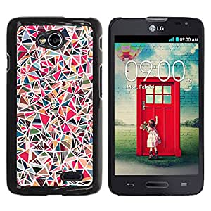 For LG Optimus L70 / LS620 / D325 / MS323 Case , Tile Stone Pink Pattern Marble - Diseño Patrón Teléfono Caso Cubierta Case Bumper Duro Protección Case Cover Funda