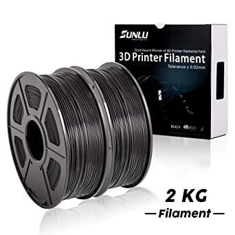 Black 1 Kilogram Spool for 3D Printers and 3D Pens 3D Printing Filament,2.2 LBS SUNLU 3D Printer Filament PLA Plus Black PLA Plus Filament 1.75 mm,Low Odor Dimensional Accuracy 0.02 mm