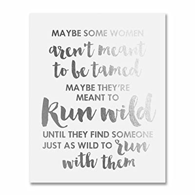 Sex and the City Quote Silver Foil Art Print Some Women Aren't Meant To Be Tamed Metallic Poster 8 inches x 10 inches E38