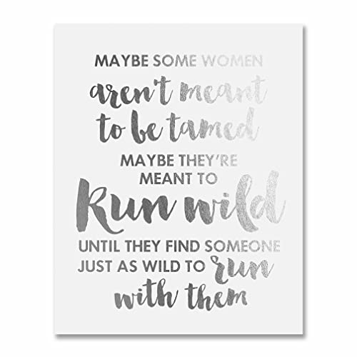Silver Quote | Amazon Com Sex And The City Quote Silver Foil Art Print Some Women