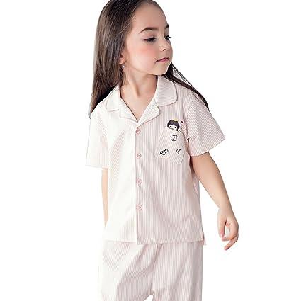 Pijamas Chicas Pijamas Pijamas de Verano de Algodón para Niñas Ropa de Aire Acondicionado para Bebés