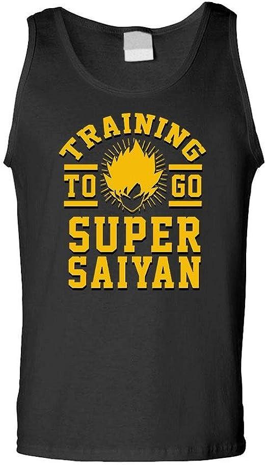 The Goozler Training to GO Super Saiyan Funny Anime - Mens Tank Top
