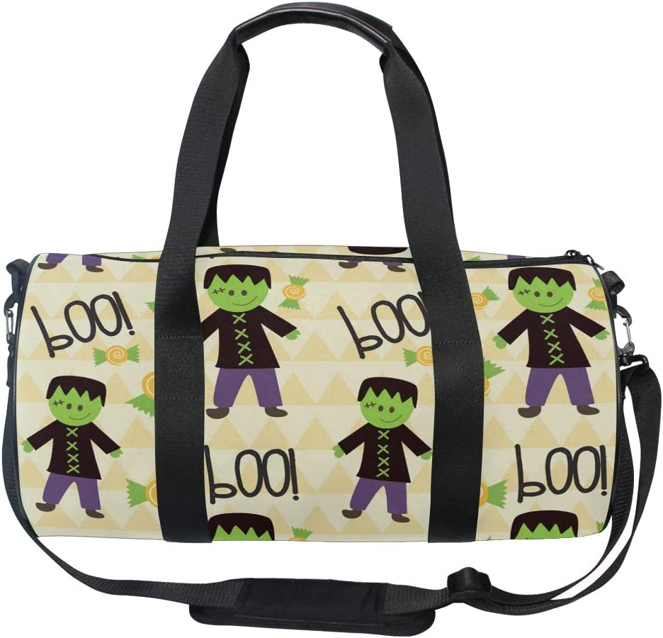 MALPLENA Green Halloween Ghost Drum gym duffel bag women Travel Bag