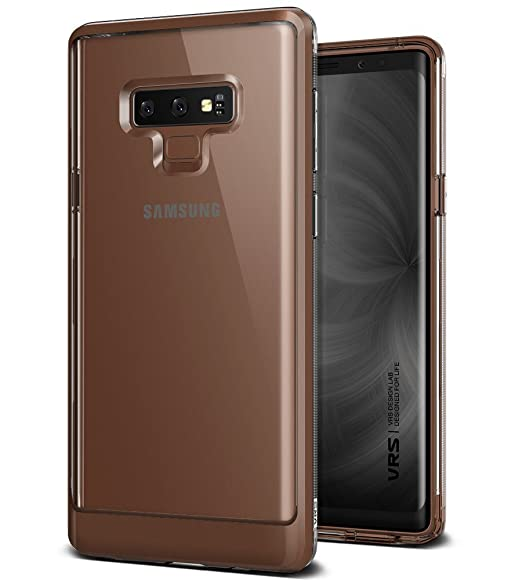 Note 9 Case, VRS Design Transparent Dual Layer Heavy Duty Protection Galaxy Note 9 [Crystal Bumper] (Brown)