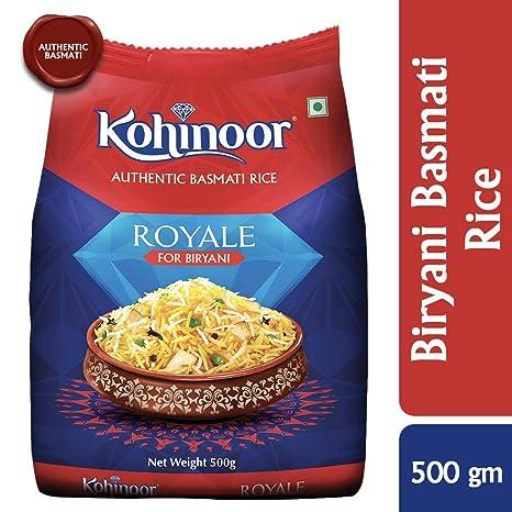 Kohinoor Royale Authentic Biryani Basmati Rice, 500 GMS