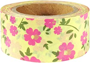 Wrapables Floral & Nature Japanese Washi Masking Tape - Pink Heart Flowers
