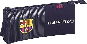 Safta Estuche Escolar F.C.Barcelona 2ª Equipacion 16/17 Oficial 220x30x100mm: Amazon.es: Juguetes y juegos