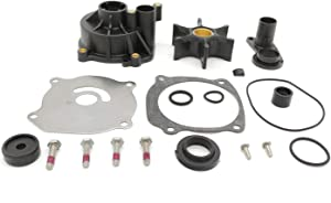 TMTMSP Water Pump Repair Kit Replacement with Housing or Johnson Evinrude V4 V6 V8 85-300HP Outboard Motor Parts 5001594 Sierra Marine 18-3392