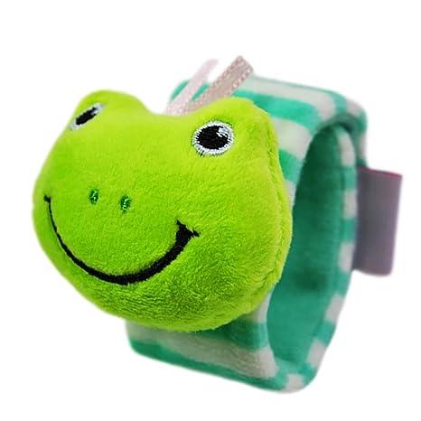 Sonajero pulsera, isuper Baby muñeca Sonajeros motricidad juguete juguetes para bebés de 0 a 3 años (Rana)