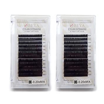 a5779f29fa9 2 Trays D Curl Individual Eyelash Extension Thick 0.20 8-15mm Mixed  Professional Mink Lash