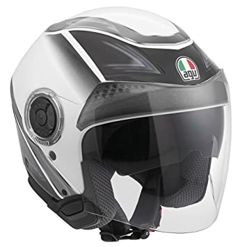 AGV New Citylight - Casco jet, color blanco y negro XS Varios colores