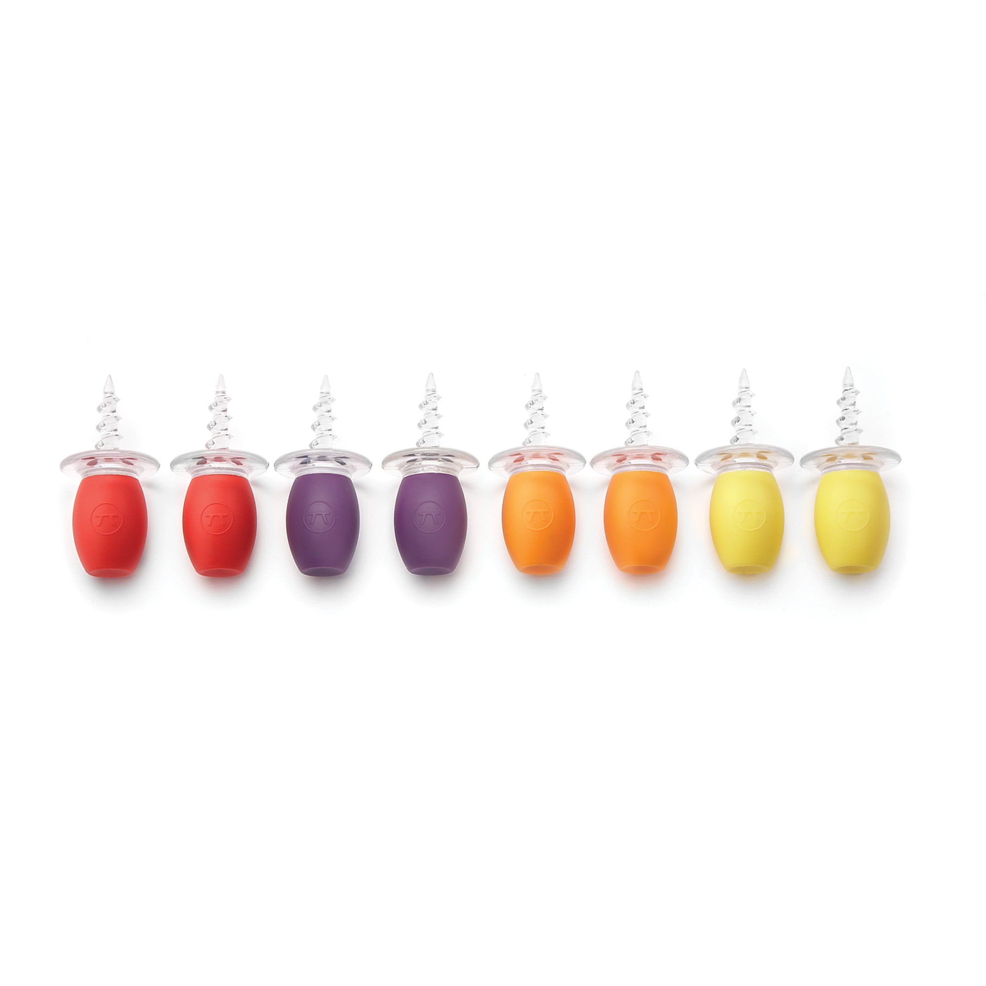 Outset F134 Oversized Multi-Colored Corn Holders, Set of 8
