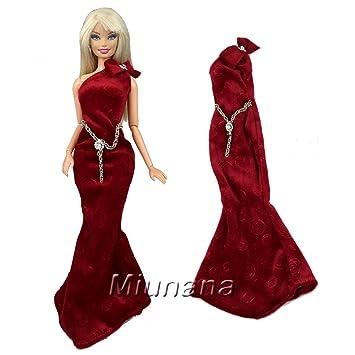 Miunana 1 Hermoso Vestido de Noche Vestir de Fiesta Boda Ropa como Regalo para Barbie Muñeca