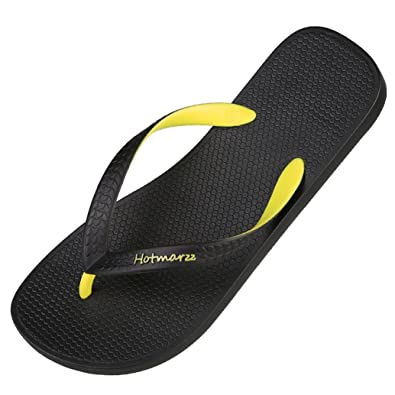 d65ae113e Hotmarzz Mens Flip Flops Sandal Beach Slippers Yellow