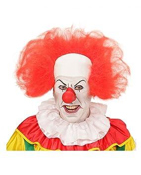 Horror-Shop calva payaso con anillo de pelo rojo