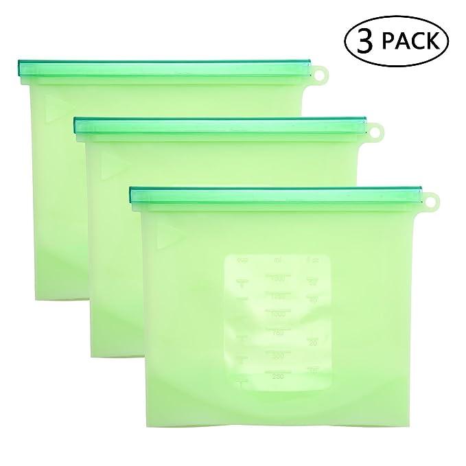 Bolsas de silicona reutilizables reciclables PAWACA ...