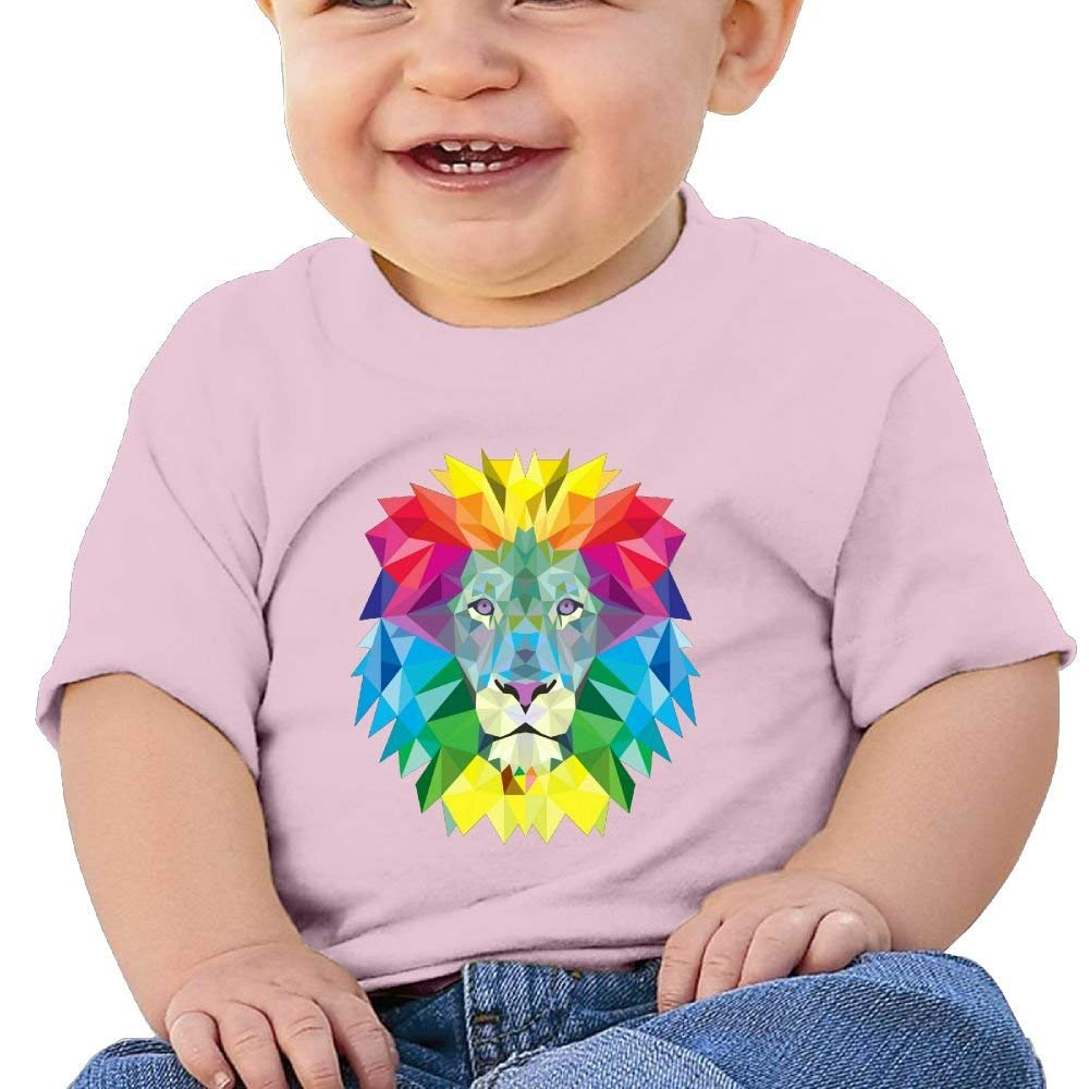 Cute Short Sleeves Tshirt Colorful Lion Head 6-24 Months Baby Boy Infant