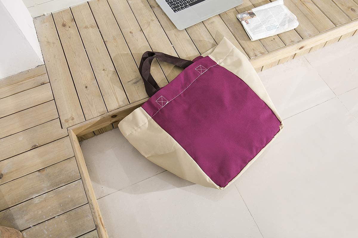 Lightweight Foldable Beach Tote Bag Travel Toy Bag Large Grocery & Picnic Reusable Shopping Shoulder Handbag by Chihom (Image #3)