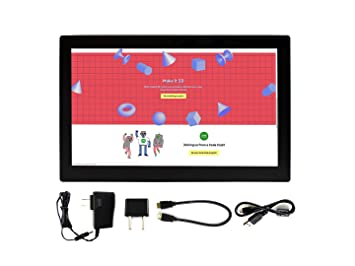 Waveshare 13.3inch IPS 1920x1080 Resolution Capacitive Touch Screen HDMI LCD with Toughened Glass Cover Supports Raspberry Pi BB Black Multi Systems: ...